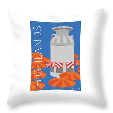 Denver Highlands/blue Throw Pillow