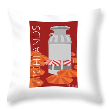 Denver Highlands/maroon Throw Pillow