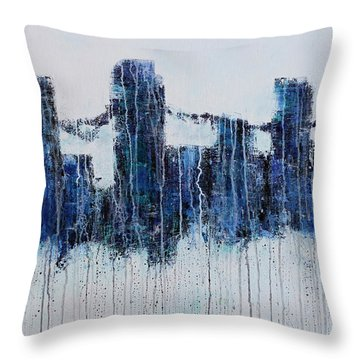 Denver Rain Throw Pillow
