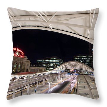 Denver Union Station 3 Throw Pillow