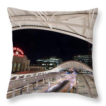 Denver Union Station 3 Throw Pillow