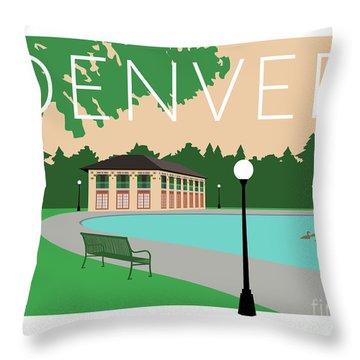 Denver Washington Park/beige Throw Pillow