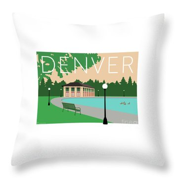 Denver Washington Park/beige Throw Pillow