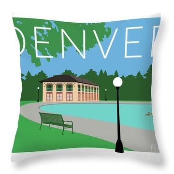 Denver Washington Park/blue Throw Pillow