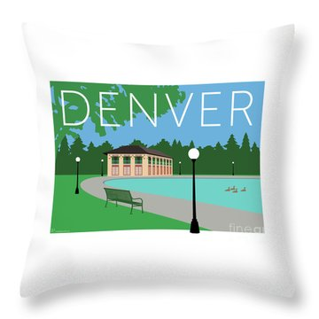 Denver Washington Park/blue Throw Pillow