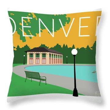 Denver Washington Park/gold Throw Pillow