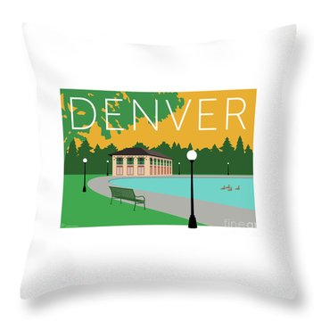 Denver Washington Park/gold Throw Pillow