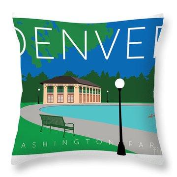 Denver Washington Park Throw Pillow
