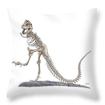 Denvers Dancing T Rex Throw Pillow