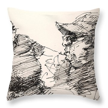 Deny And Jon Throw Pillow