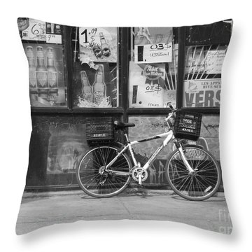 Depanneur Bike Throw Pillow
