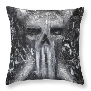 Departed Darkness Throw Pillow
