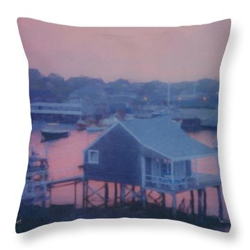 Departing Nantucket Throw Pillow