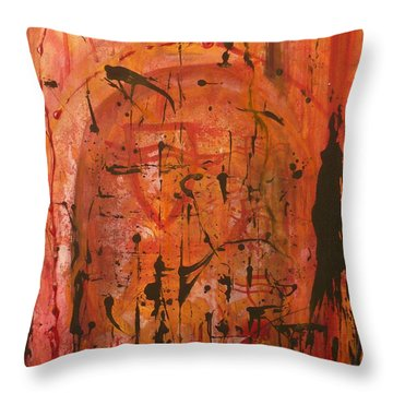 Departing Abstract Throw Pillow