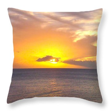 Departing St. Lucia Throw Pillow