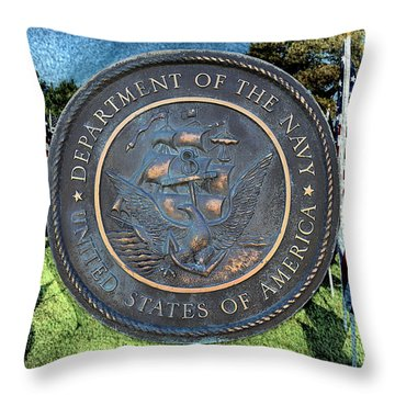 Department Of The Navy - United States Throw Pillow