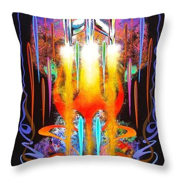 Throw Pillow featuring the painting Departure by Alan Johnson