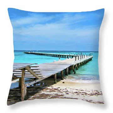 Departure Point Throw Pillow