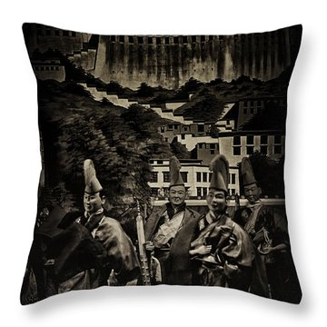 Departure Throw Pillow by Rajiv Chopra