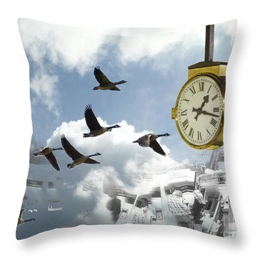 Departures Throw Pillow