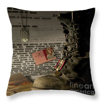 Throw Pillow featuring the photograph Deployment by Melany Sarafis