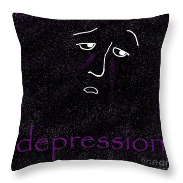 Depression Throw Pillow by Methune Hively