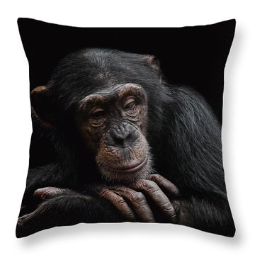 Depression  Throw Pillow by Paul Neville