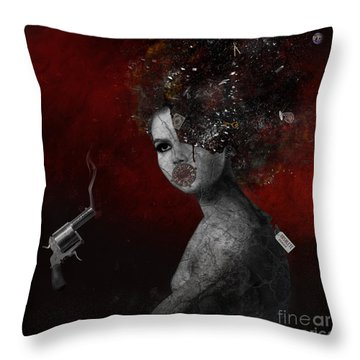 Throw Pillow featuring the digital art Deprived by Nola Lee Kelsey