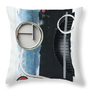 Throw Pillow featuring the painting Depth Onto Space by Michal Mitak Mahgerefteh