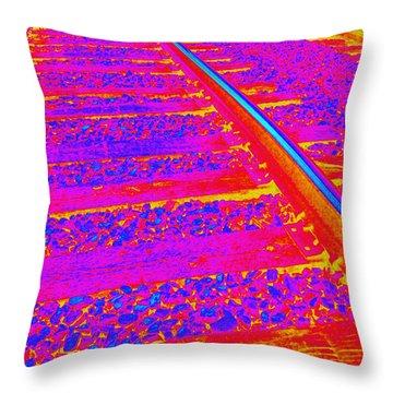 Derailed Throw Pillow