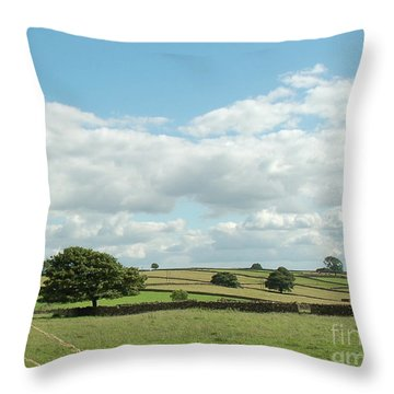 Derbyshire Landscape Throw Pillow by Mini Arora