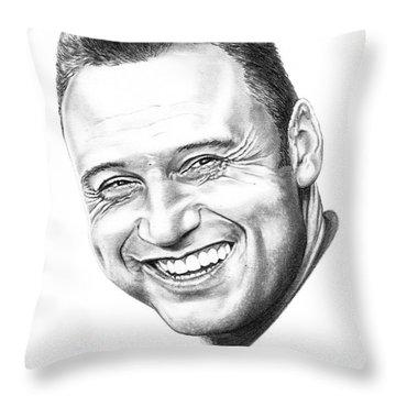 Derek Jeter Throw Pillow by Murphy Elliott