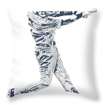 Derek Jeter New York Yankees Pixel Art 10 Throw Pillow