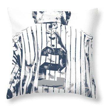 Derek Jeter New York Yankees Pixel Art 11 Throw Pillow