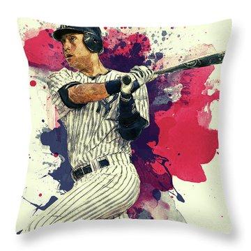 Derek Jeter Throw Pillow