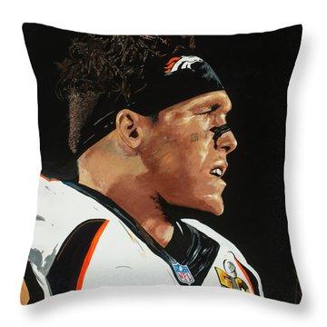 Derek Wolfe Throw Pillow