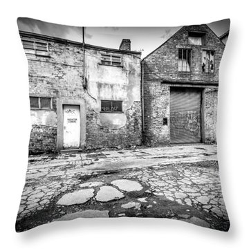 Throw Pillow featuring the photograph Derelict Building by Gary Gillette