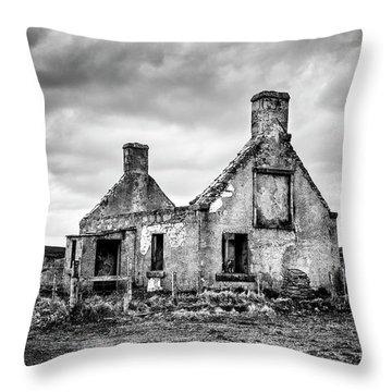 Derelict Croft Throw Pillow