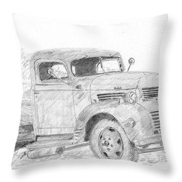 Derelict Dodge Throw Pillow