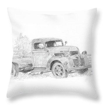 Derelict Dodge Throw Pillow