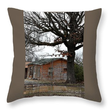 Derelict In Hope Throw Pillow
