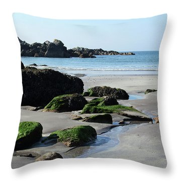 Derrynane Beach Throw Pillow by Marie Leslie