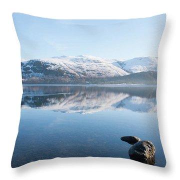 Derwentwater Rocks Throw Pillow