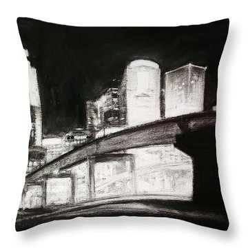 Des Moines Skyline #10 Throw Pillow