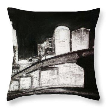 Des Moines Skyline #10 Throw Pillow