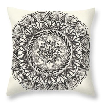 Des Tapestry Medallion Throw Pillow by Kathy Sheeran