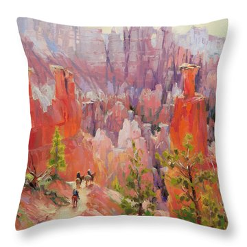 Descent Into Bryce Throw Pillow