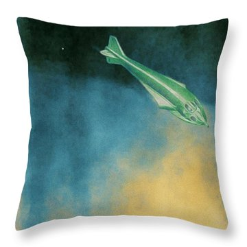 Descent Into Jupiter Throw Pillow