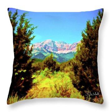 Deseret Peak Throw Pillow