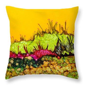 Desert Abstract Landscape Throw Pillow